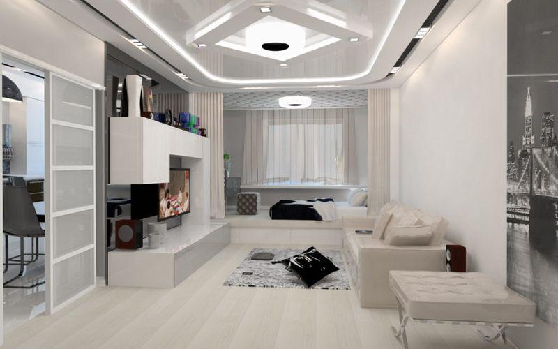 Phong cách trang trí phòng khách hiện đại.