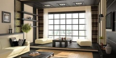 Décoration de fenêtre pour salon