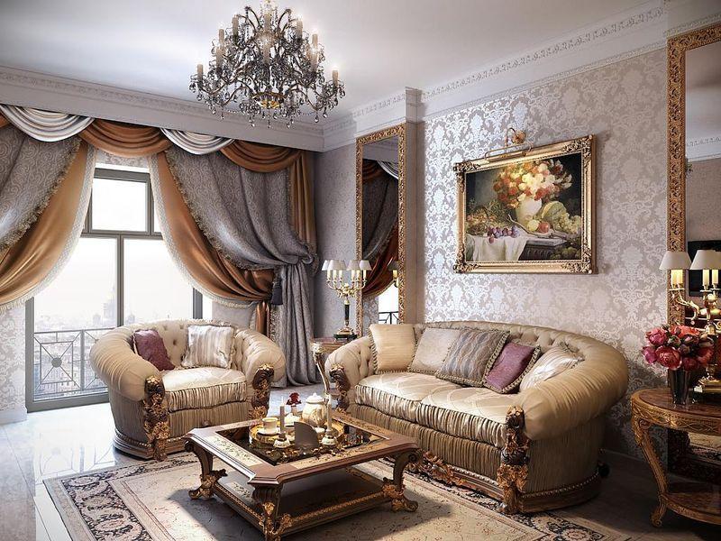 Phong cách cổ điển trang trí cửa sổ phòng khách