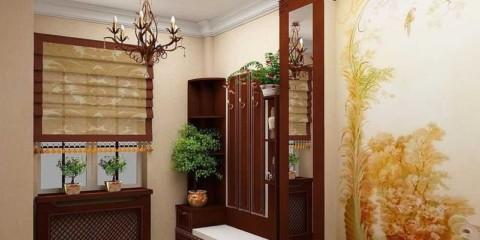 Décoration de couloir dans un appartement moderne
