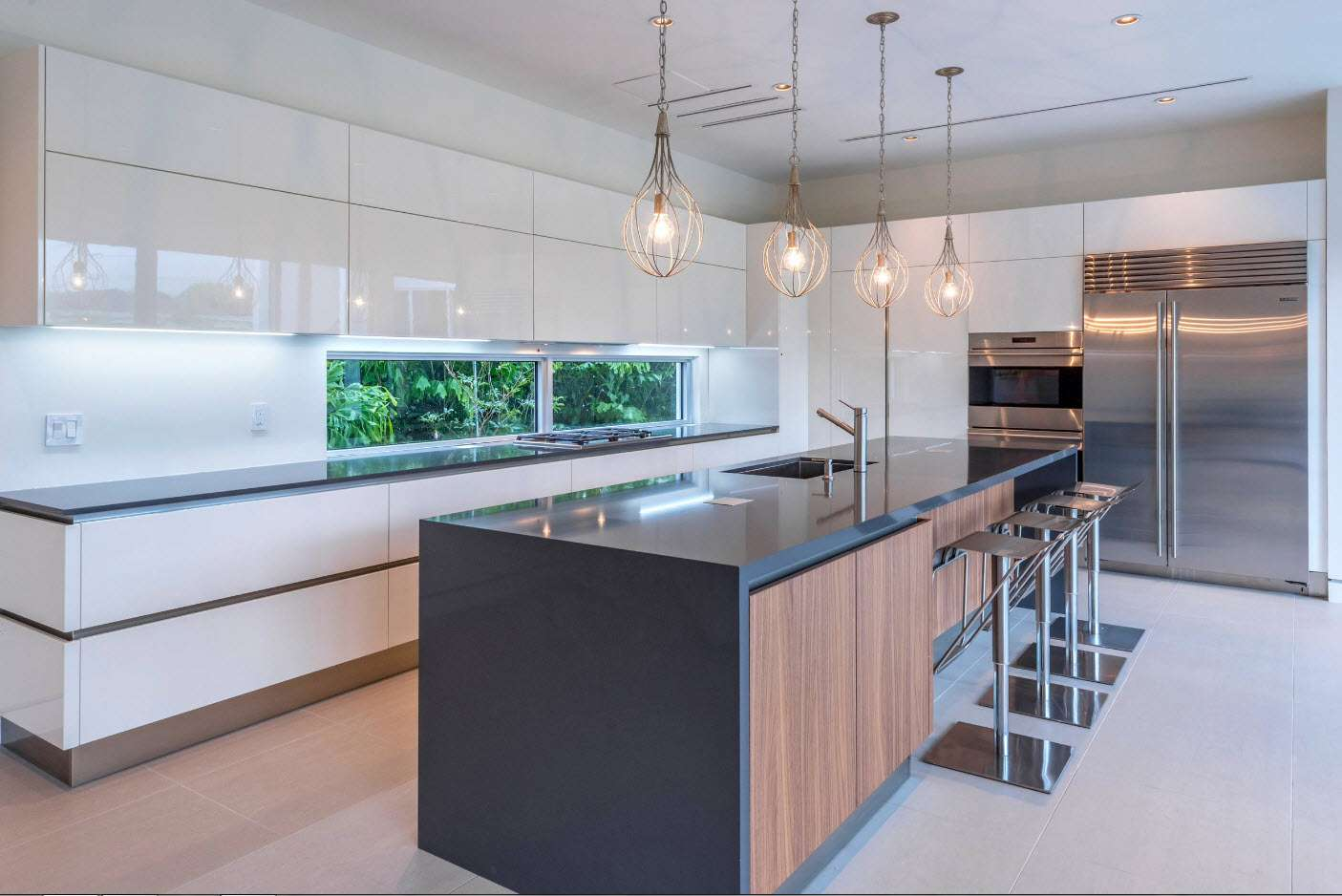 minimalismul modern al bucătăriei
