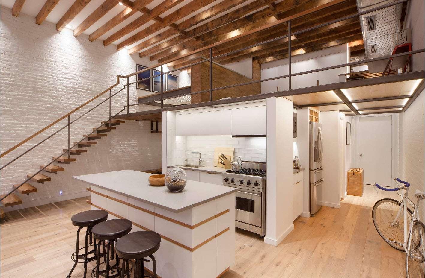 cărămidă decorativă în bucătărie