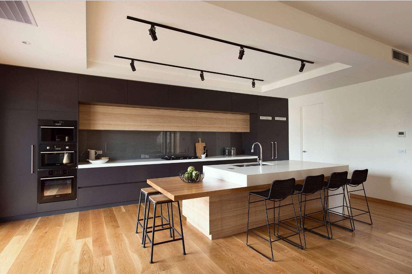 bucătărie modernă cu aparate integrate