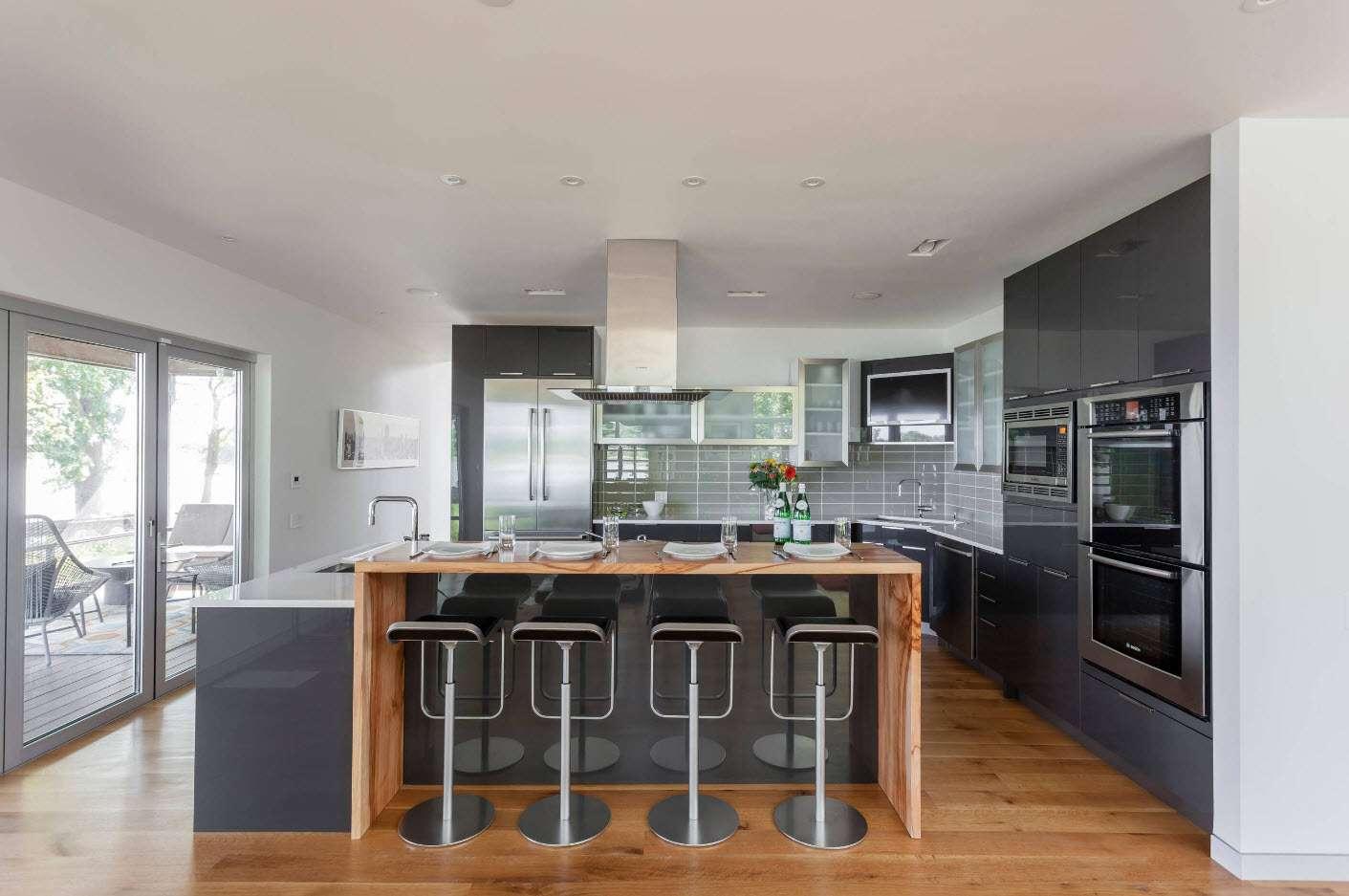 bucătărie modernă de înaltă tehnologie