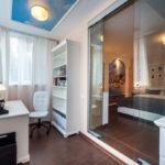 chambre avec balcon design intérieur