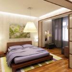 chambre avec balcon intérieur