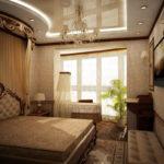 chambre avec décoration balcon
