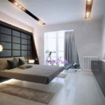chambre avec balcon intérieur élégant