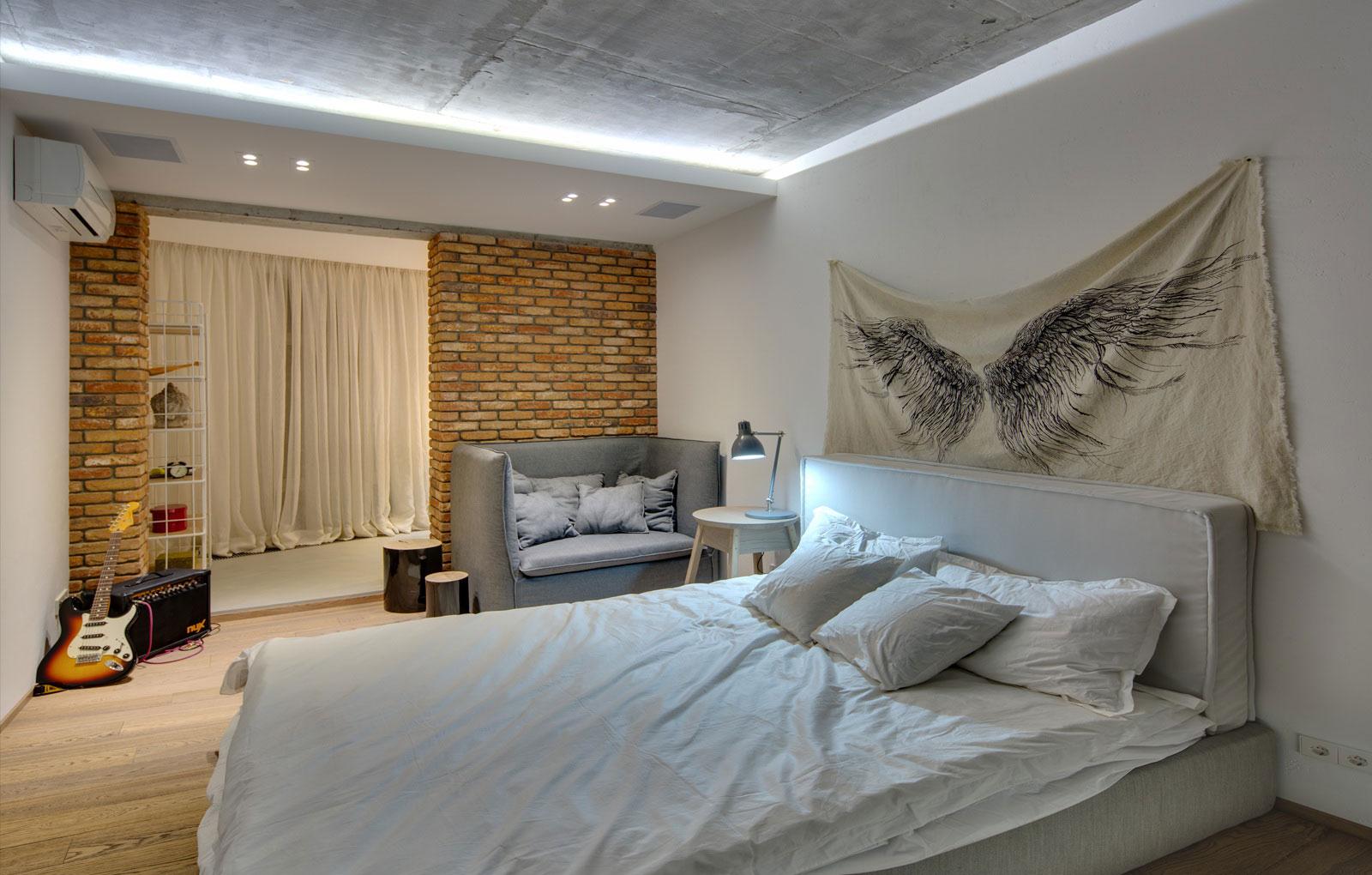 design de chambre élégant avec balcon