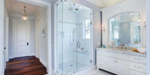 salle de bain avec douche photo