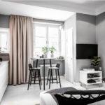 salon cuisine design 15 m² décoration photo