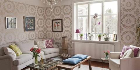l'idée d'un beau design de papier peint pour l'image du salon