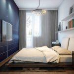 exemple d'une image de chambre étroite de conception légère