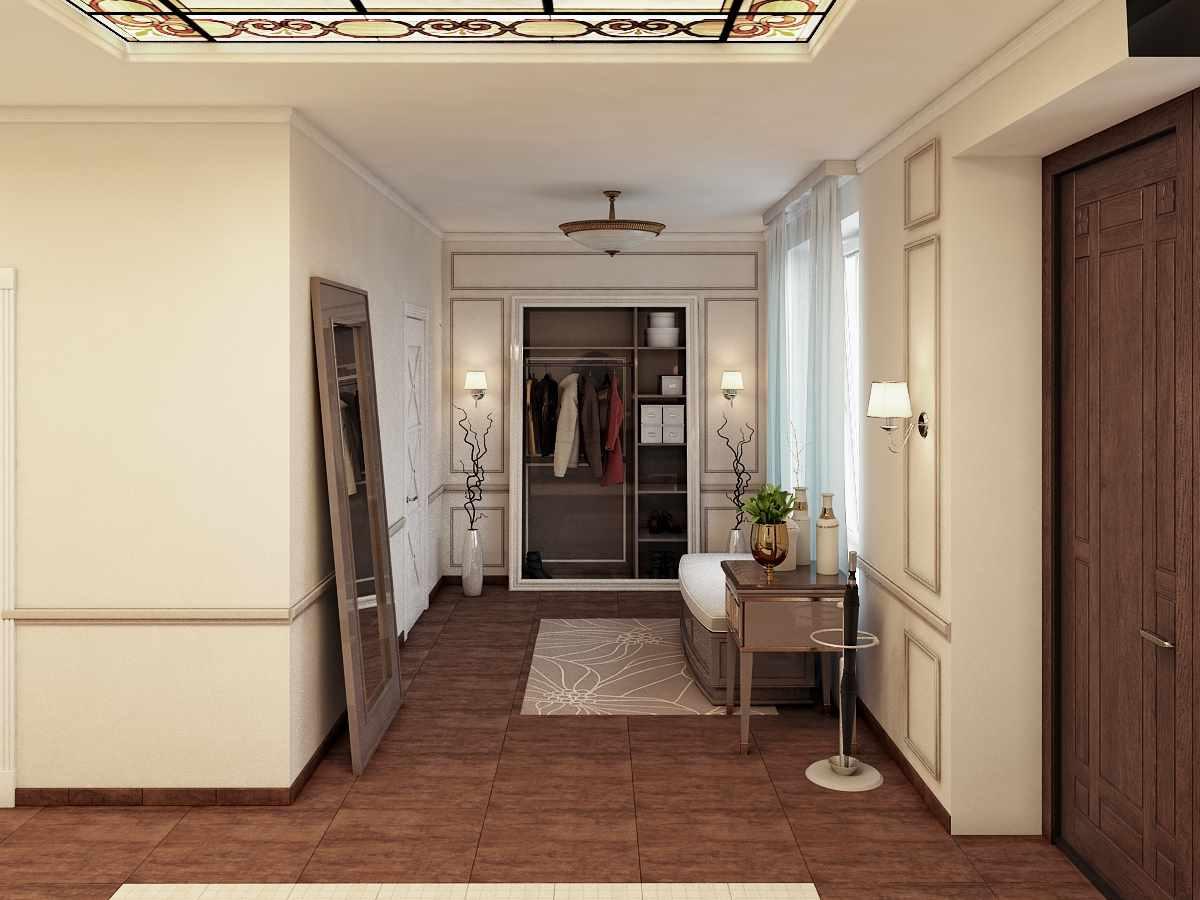 exemple d'un décor lumineux du couloir d'une pièce dans une maison privée