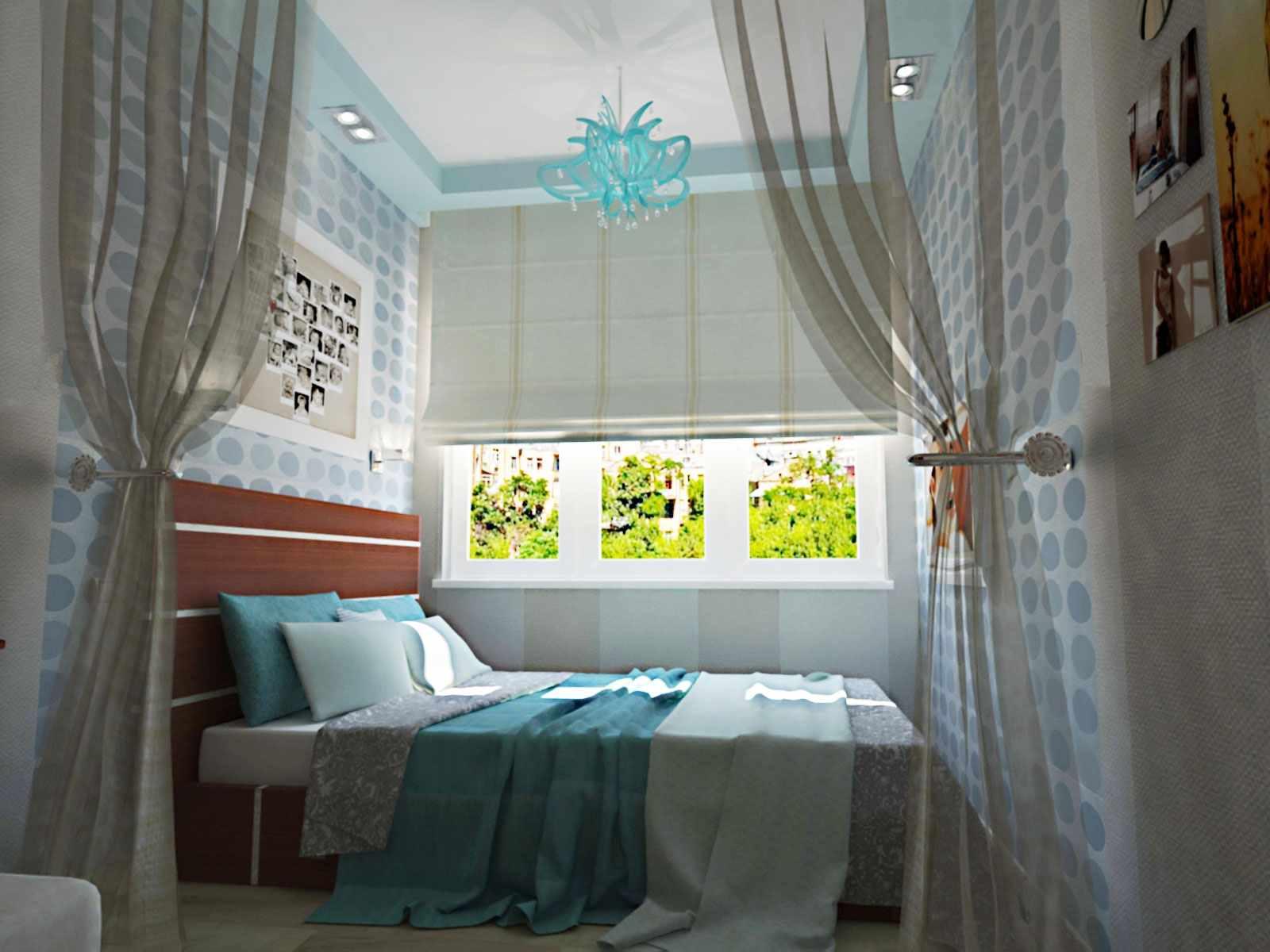 l'idée d'un intérieur insolite d'une chambre étroite