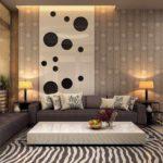 Một ví dụ về phong cách nhẹ của giấy dán tường cho ảnh phòng khách