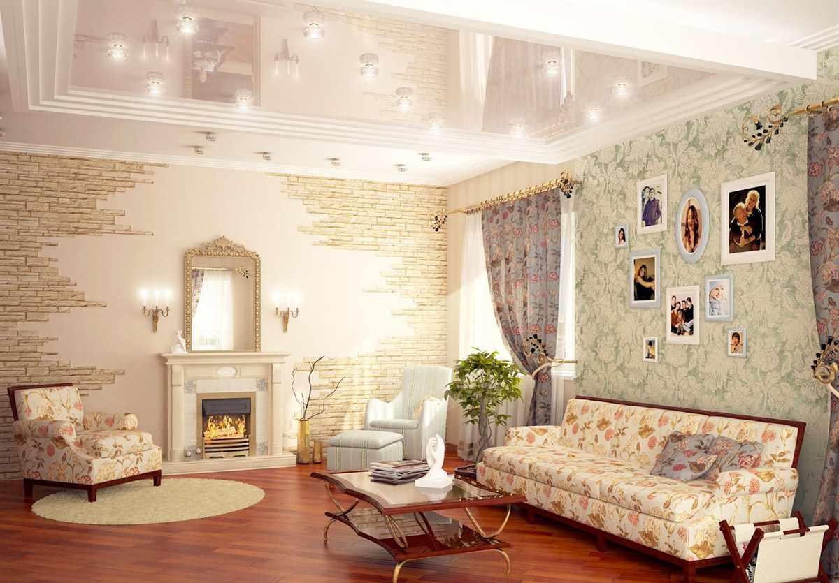 lựa chọn của một nội thất sáng trong phòng khách