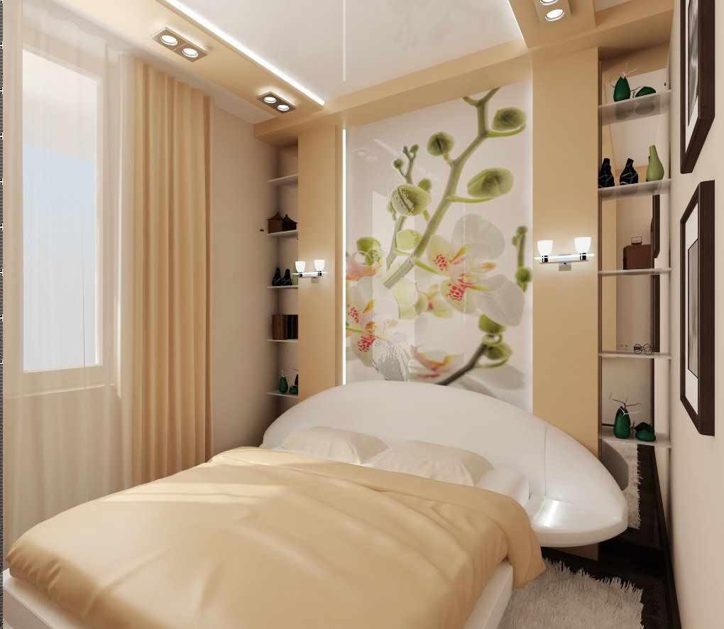 Un exemple du design lumineux d'une chambre étroite