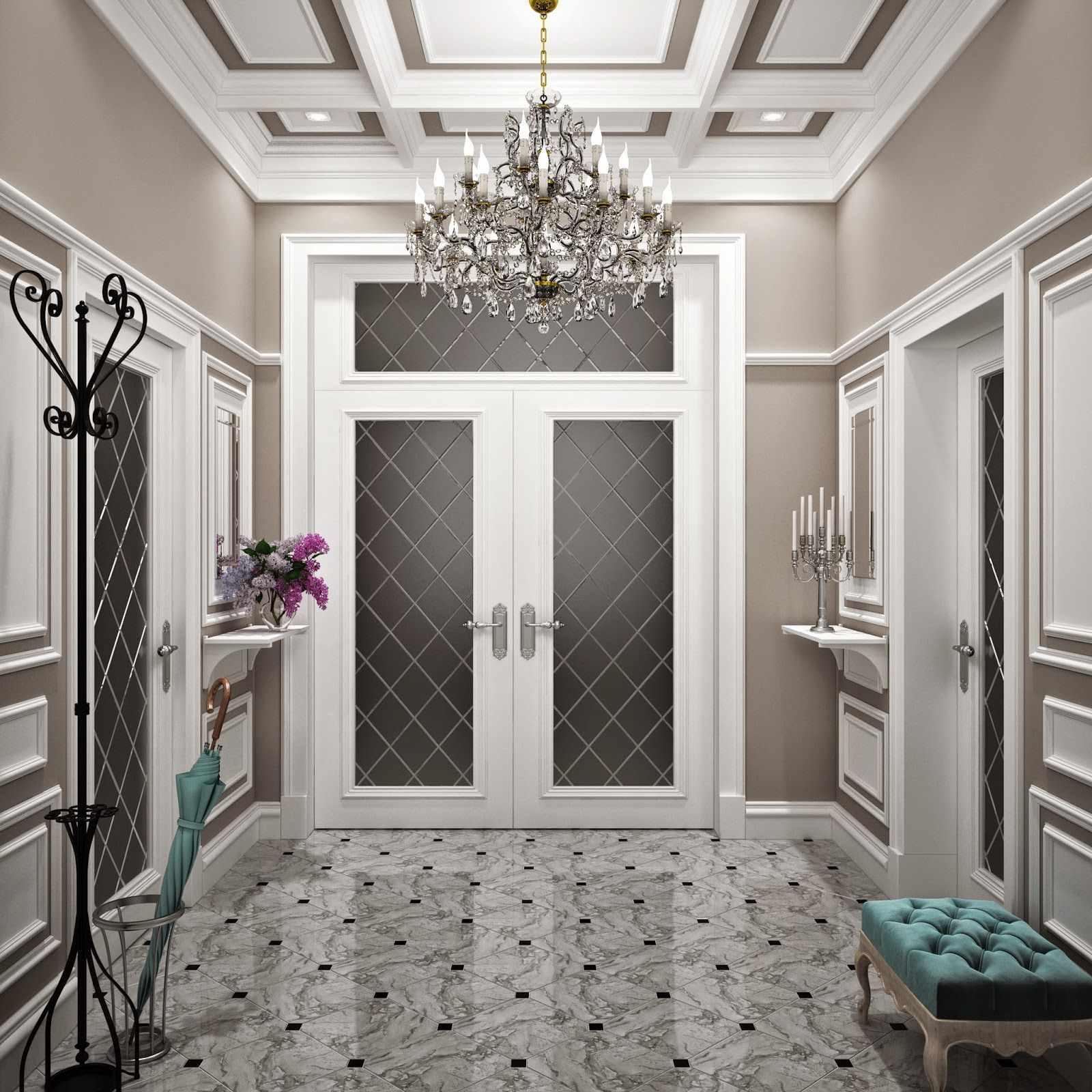 l'idée d'un couloir intérieur insolite dans une maison privée