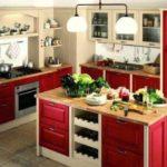idee de o fotografie ușoară cu bucătărie de decor roșu