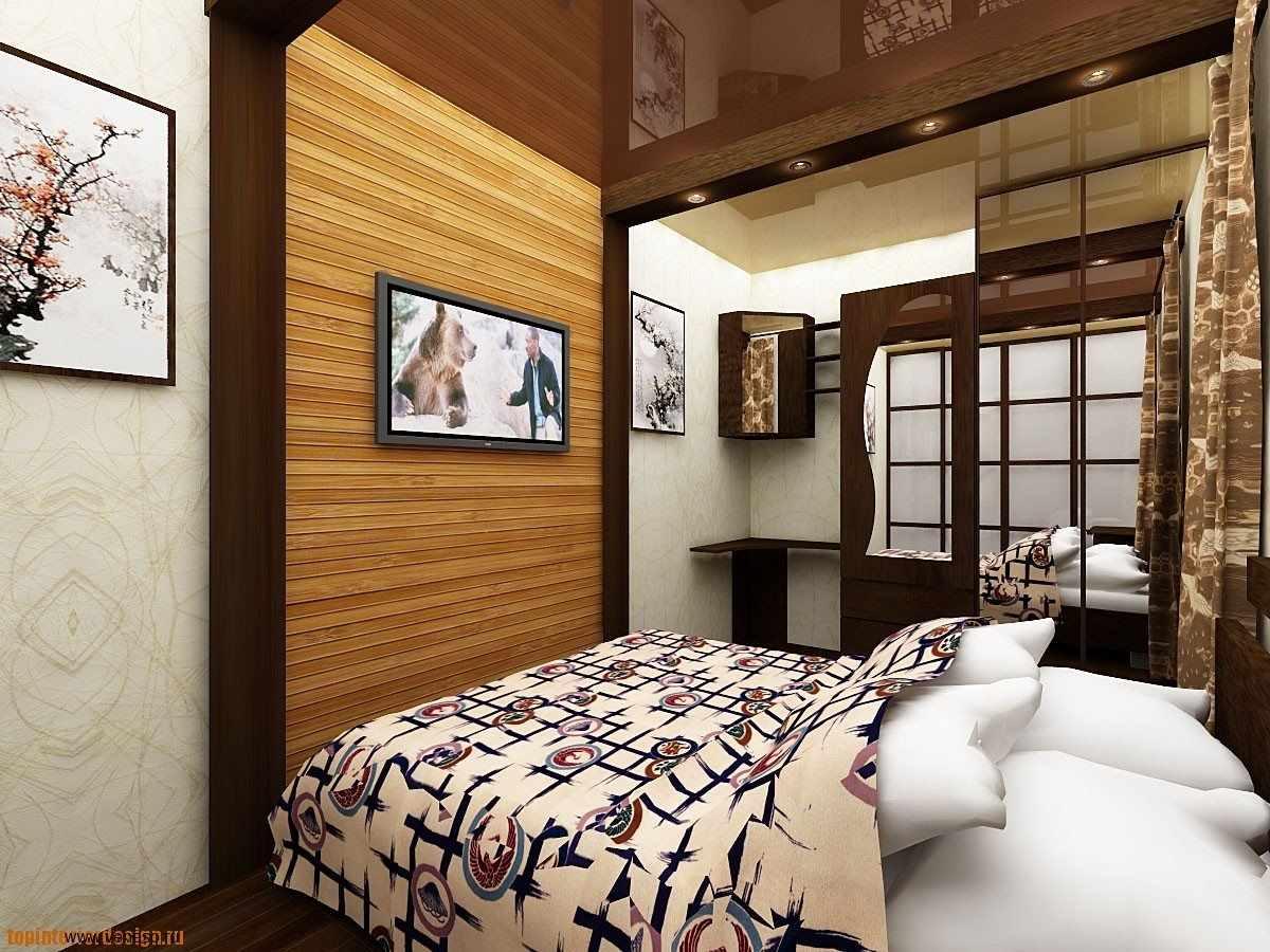 option d'un beau décor d'une chambre étroite
