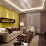ý tưởng về một phong cách tươi sáng của giấy dán tường cho bức tranh phòng khách