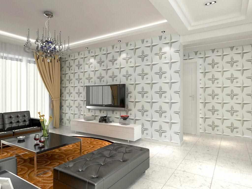 ý tưởng thiết kế giấy dán tường cho phòng khách