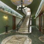 version du décor clair du couloir d'une pièce dans une maison privée photo