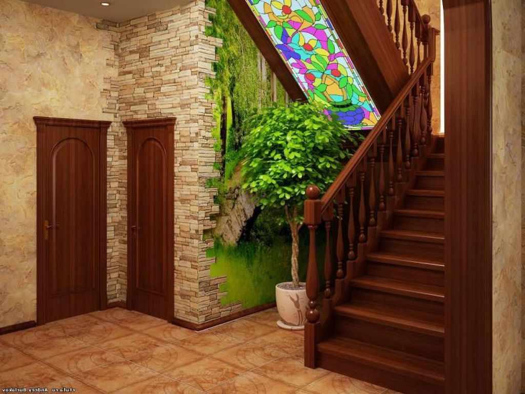 exemple d'un beau style de couloir dans une maison privée