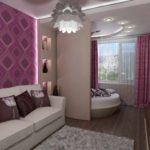 exemple d'un intérieur de chambre insolite de 15 m² photo