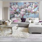 variante d'un beau décor de papier peint pour le salon photo