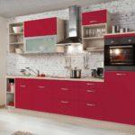 exemplu de frumos stil de fotografie de bucătărie roșie
