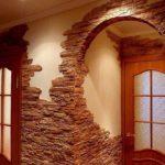 exemple d'un beau style de couloir dans une maison privée photo