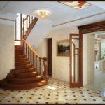 version de l'intérieur lumineux du couloir dans une photo de maison privée