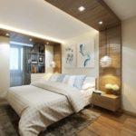 Un exemple d'un intérieur de chambre lumineux de 15 m².