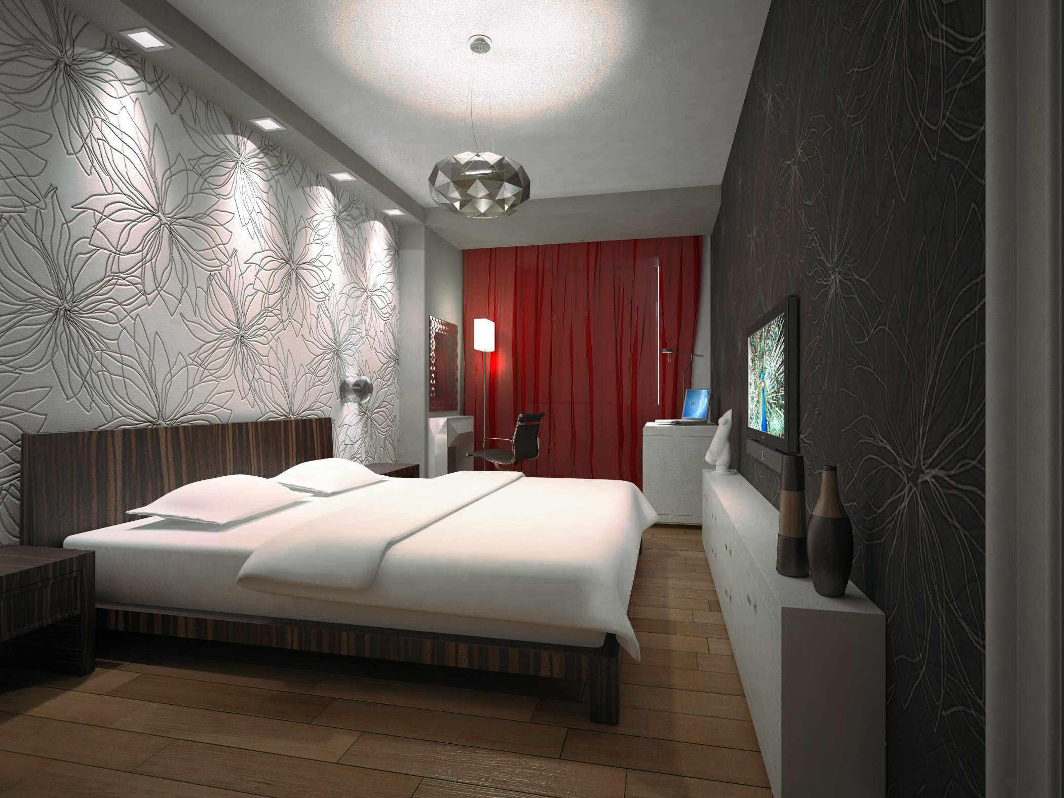 option d'un décor clair d'une chambre étroite