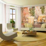 option papier peint décor clair pour l'image du salon