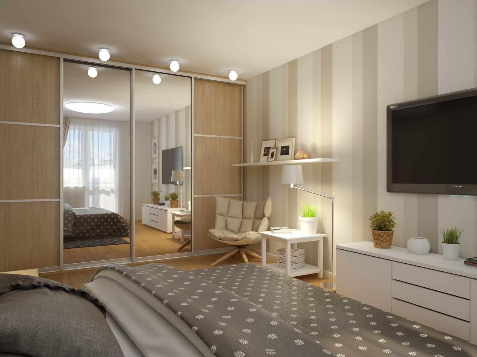 Un exemple d'un intérieur inhabituel d'une chambre étroite