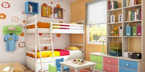 idée d'un design léger d'une chambre d'enfant photo