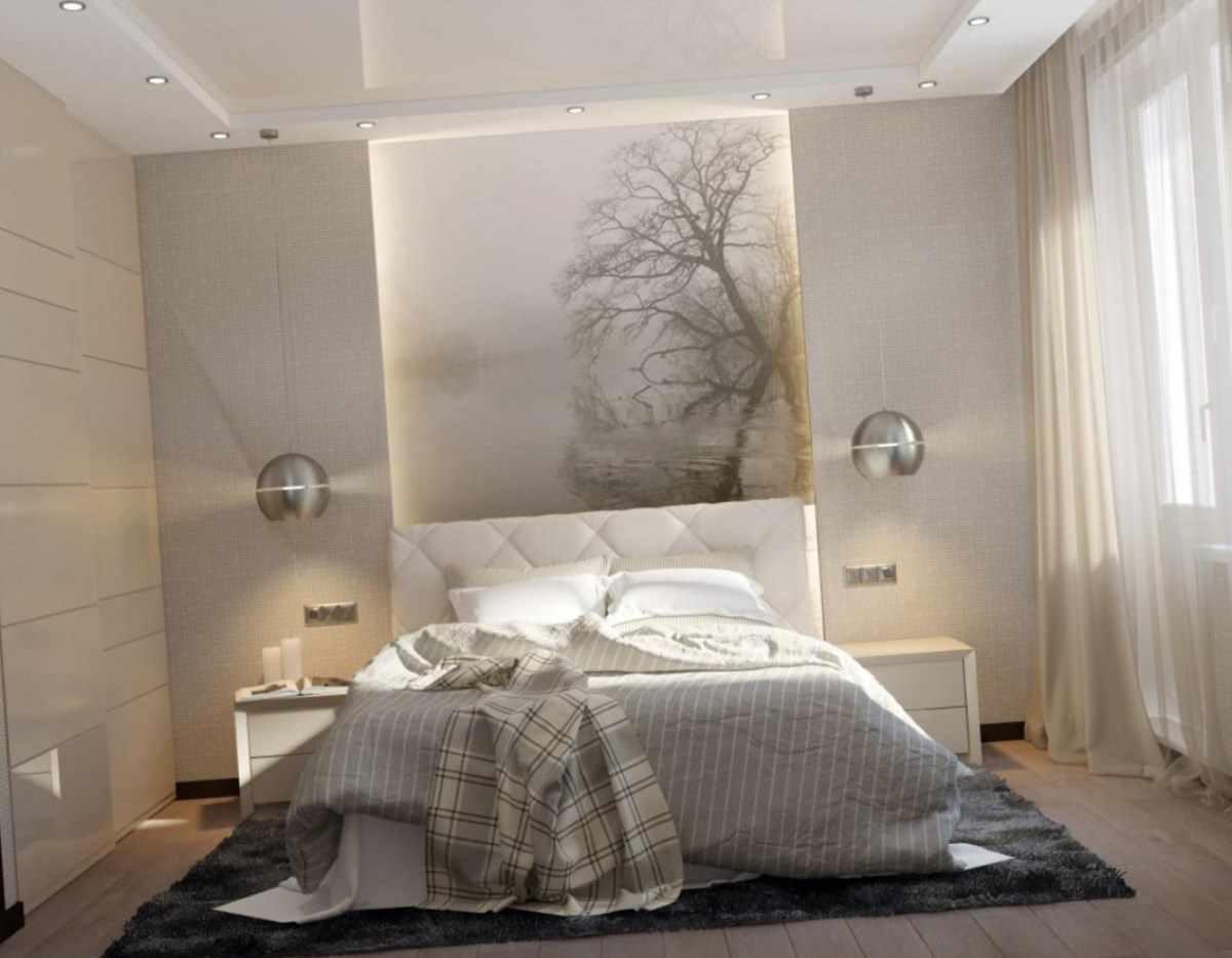 variante de décoration de chambre lumineuse 15 m²