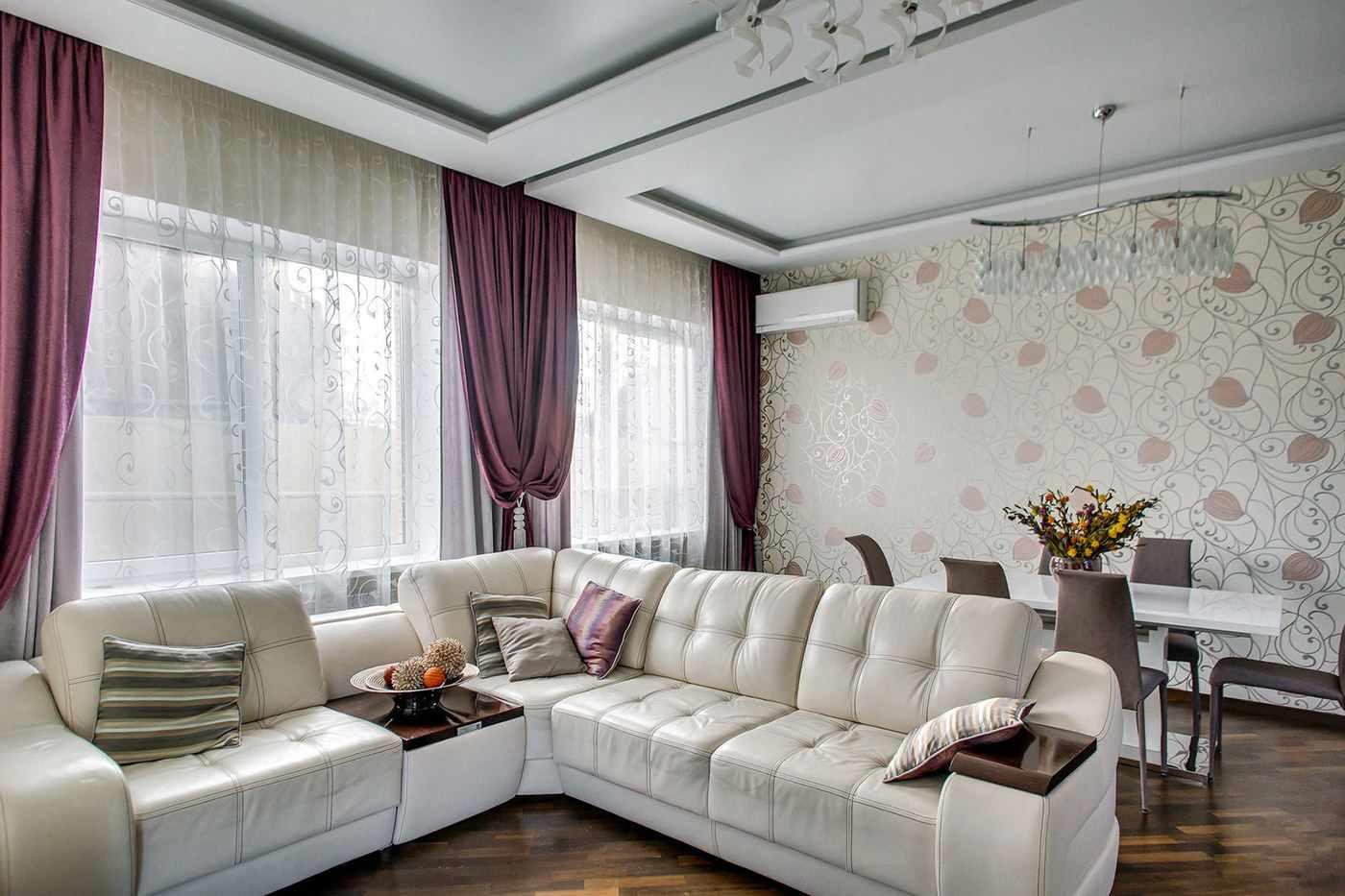 ý tưởng về một phong cách đẹp của giấy dán tường cho phòng khách