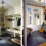 Un exemple du style lumineux du couloir dans une maison privée photo