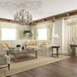 ý tưởng về một phong cách đẹp trong bức tranh phòng khách