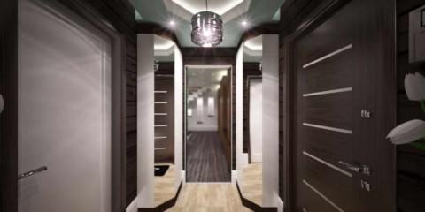 Un exemple d'un design inhabituel d'une photo de couloir moderne