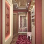 variante du bel intérieur du couloir dans une maison privée photo