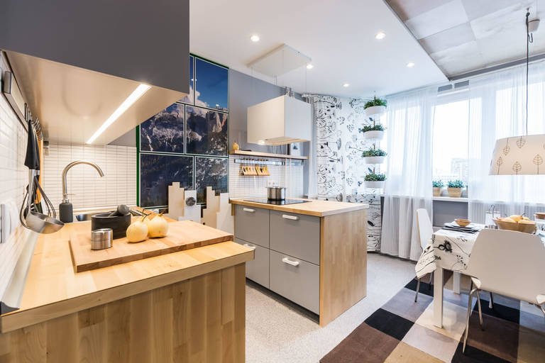cuisine séjour 15 m² design