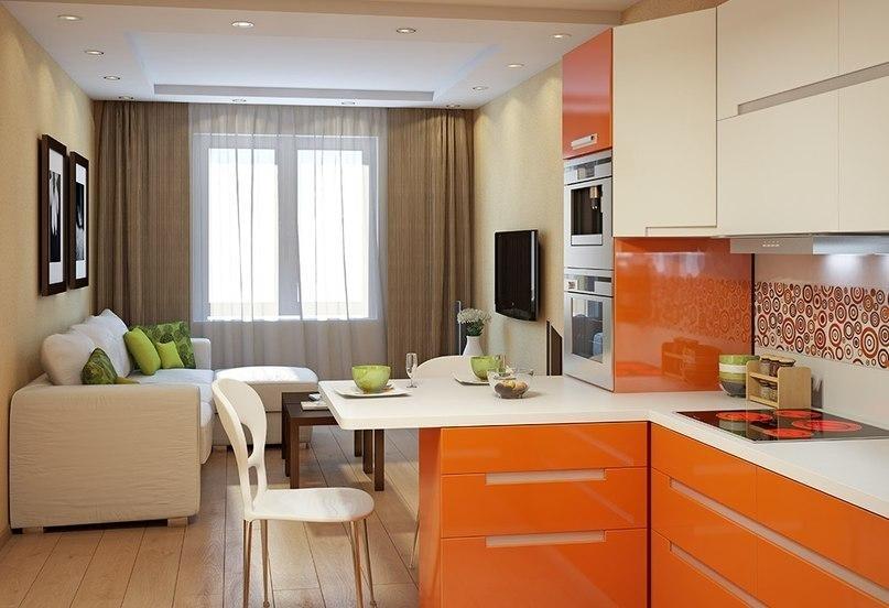 cuisine salon séjour 15 m² photo
