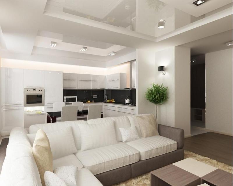 cuisine salon séjour 15 m² idées