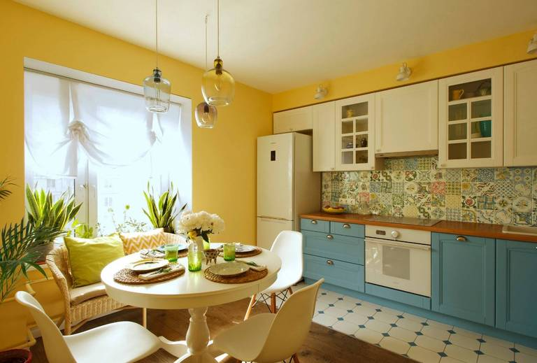 conception de cuisine de salon