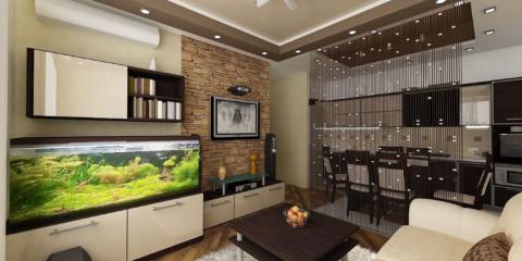 cuisine séjour 15 m2 intérieur design